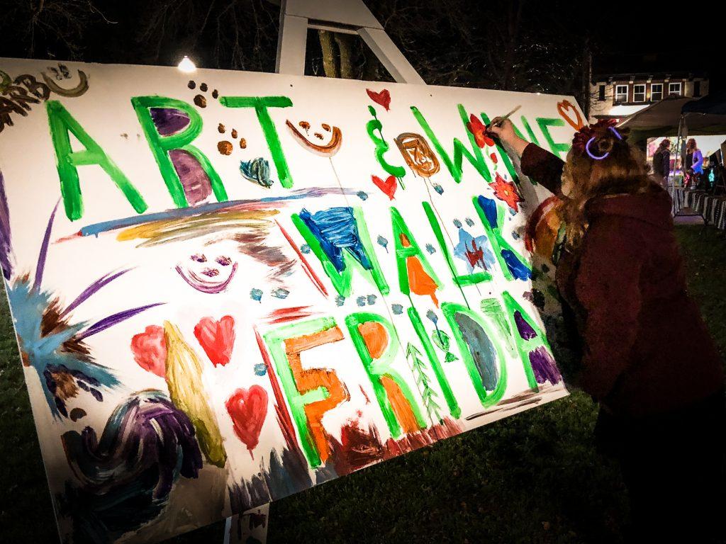 East Troy Chamber Art & Wine Walk | Community Paint Board