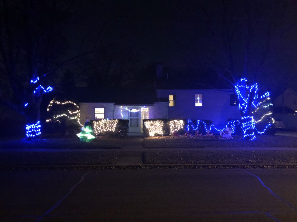 Holiday Lights on House in East Troy