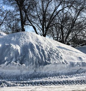 East Troy Square Snow Piles